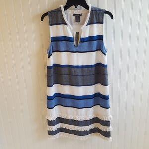 NWT Chelsea & Theodore Blue & White Striped Dress